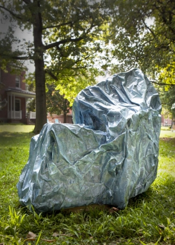 Agnes Deja environmental consciousness ecophenomenology asphalt gesture sculpture painting installation governors island art fair 2018